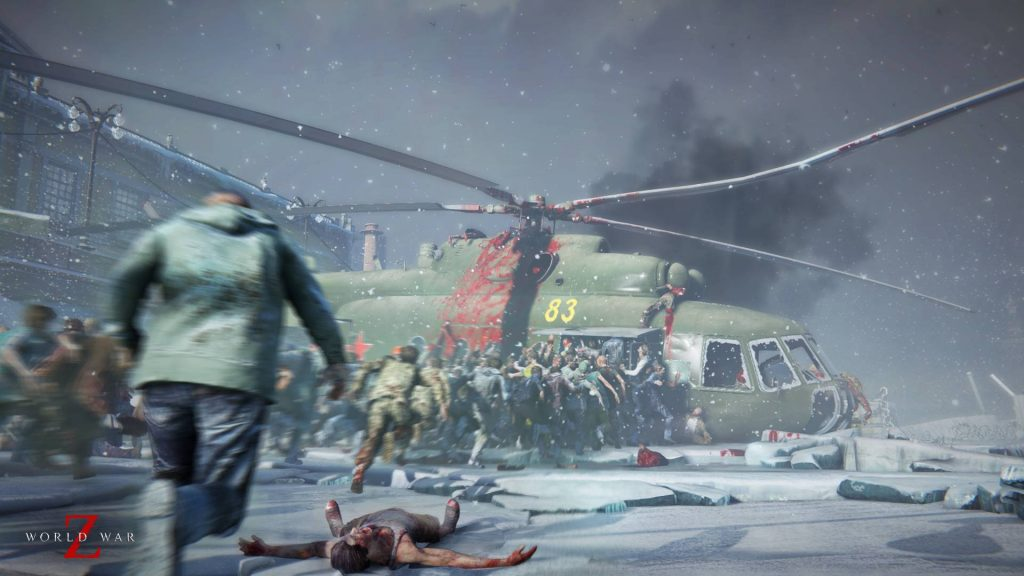 World War Z Zombies entern Heli