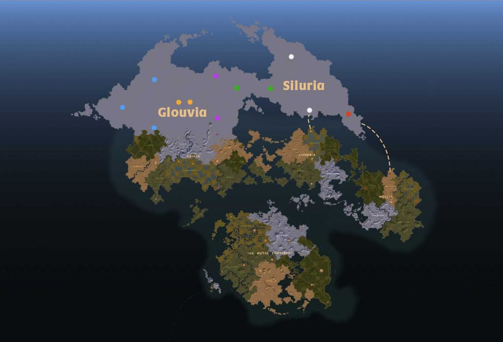 albion online neue Karte mit Siluria und Glouvia