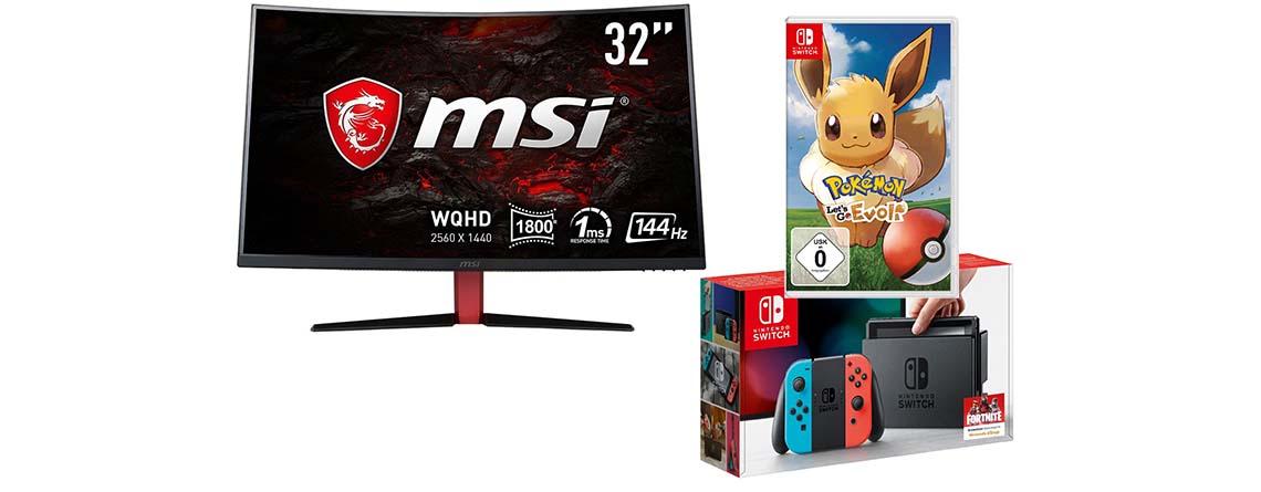 OTTO Deals: MSI Monitore zum Bestpreis – Nintendo Switch günstiger