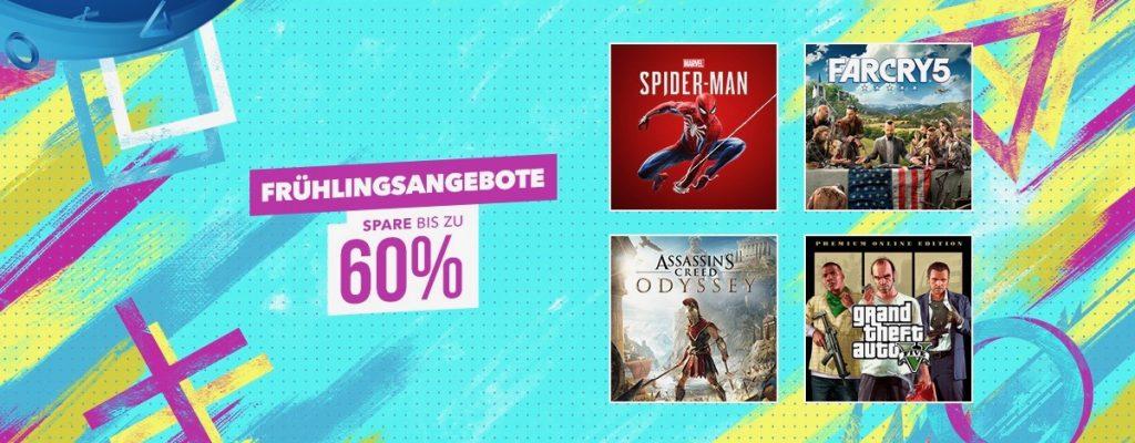 PS Store Frühlingsangebote: Top-Titel wie RDR2 und Spider-Man bis zu 60% günstiger