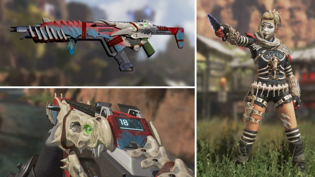 Apex Legends Legendary Night Terror Wraith und Legendary R 301 skin