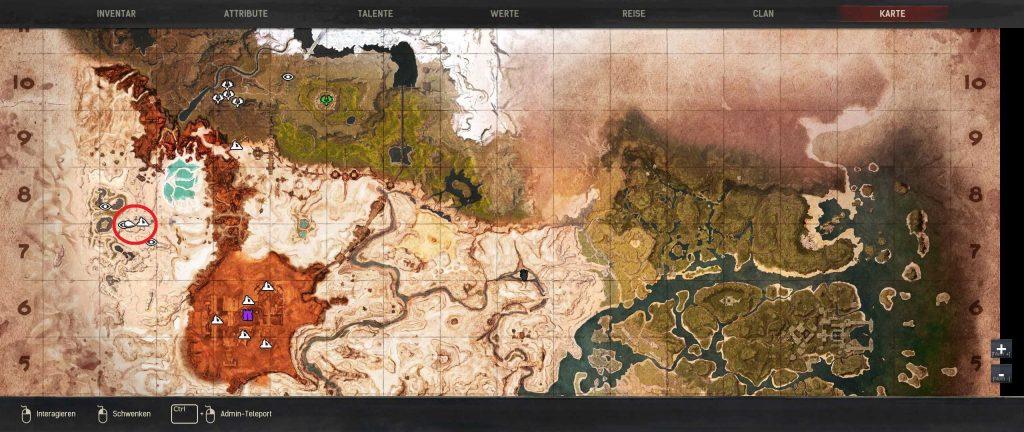 Conan Exiles beste Baugründe Guide Reliktbeobachter Anhöhe Standort