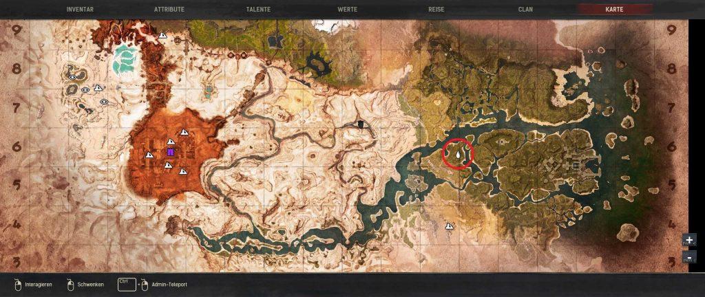 Conan Exiles beste Baugründe Guide Sumpflager Standort