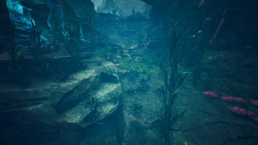 Conan Exiles versunkene Stadt Umgebung Seegras