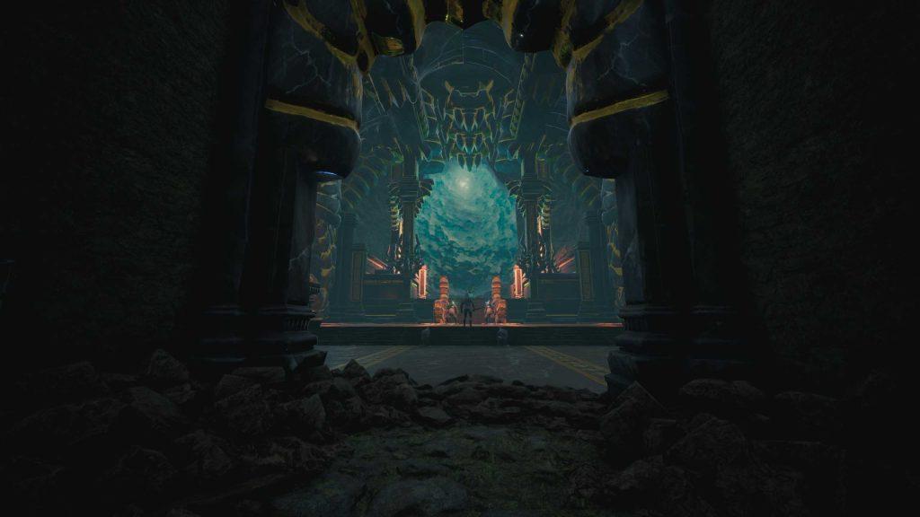 Conan Exiles versunkene Stadt Tempel von innen