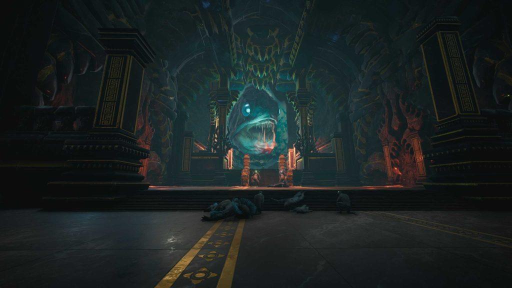 Conan Exiles versunkener Tempel Dagon in seinem Gefängnis