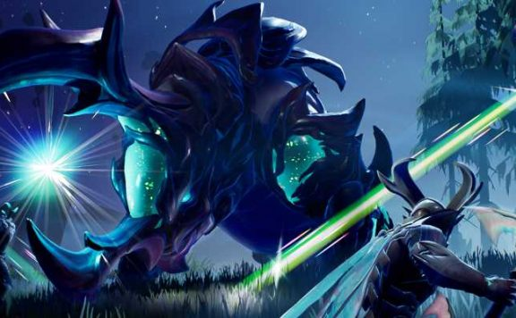 Dauntless Screenshot viele Slayer bekämpfen Behemoth Titel