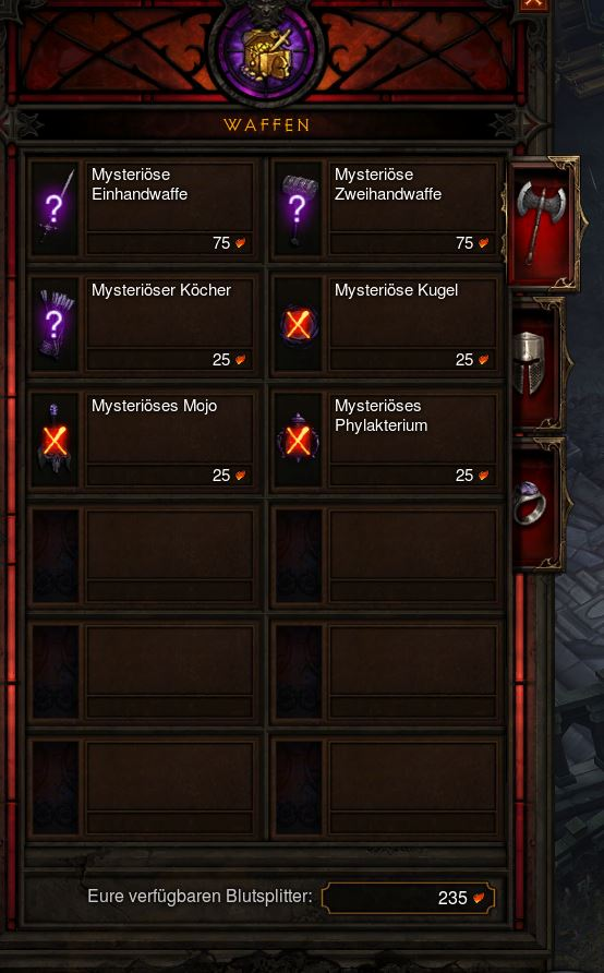 Diablo 3 Kadala Blutsplitterkosten