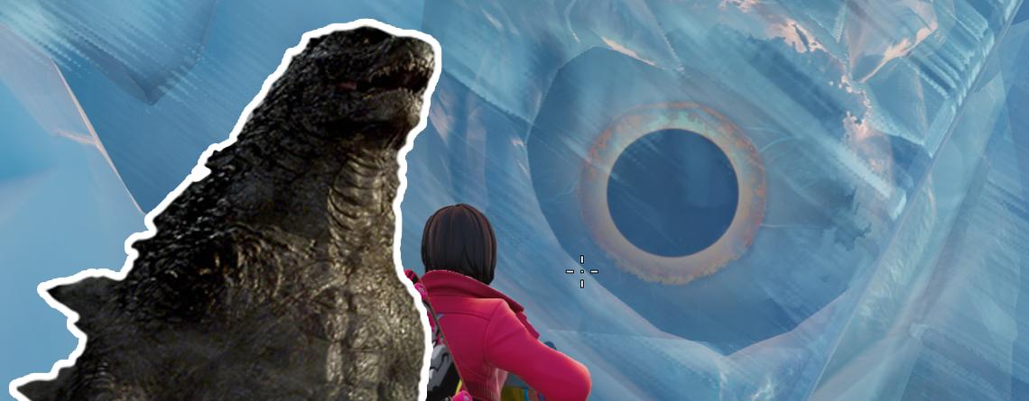 Spieler entdecken gruseliges Auge in Eisberg bei Fortnite – Kommt Godzilla?