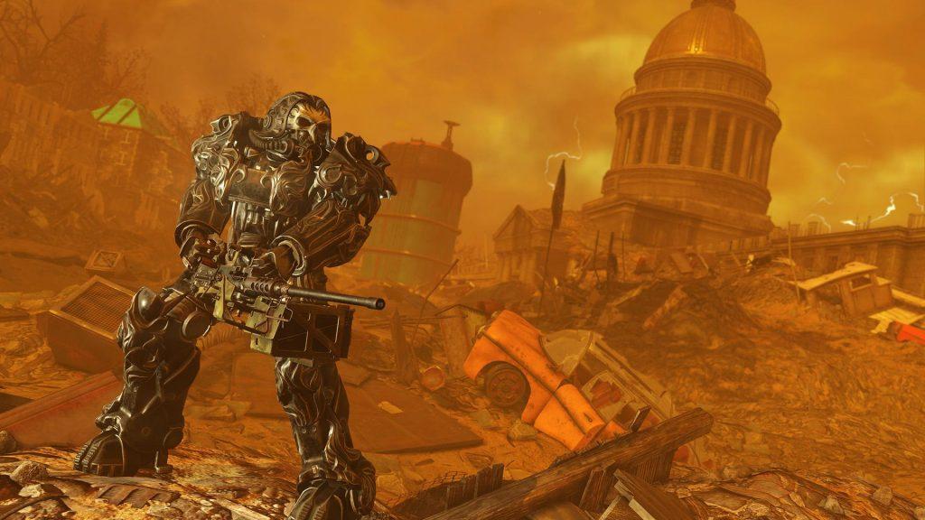 Fallout 76 Apokalyptischer Reiter Skin für die Powerrüstung Hunger