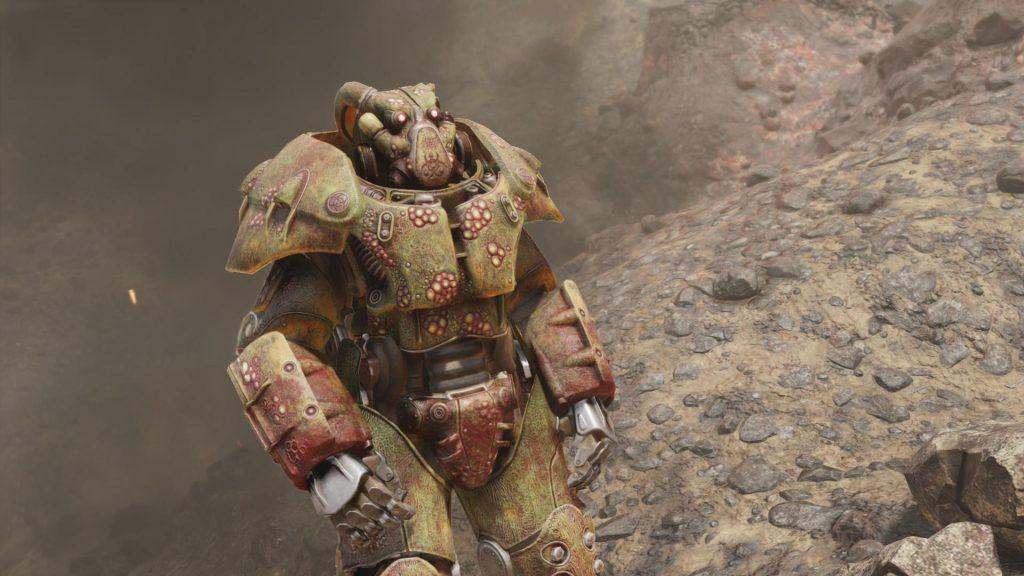 Fallout 76 Apokalyptischer Reiter Skin für die Powerrüstung Pest