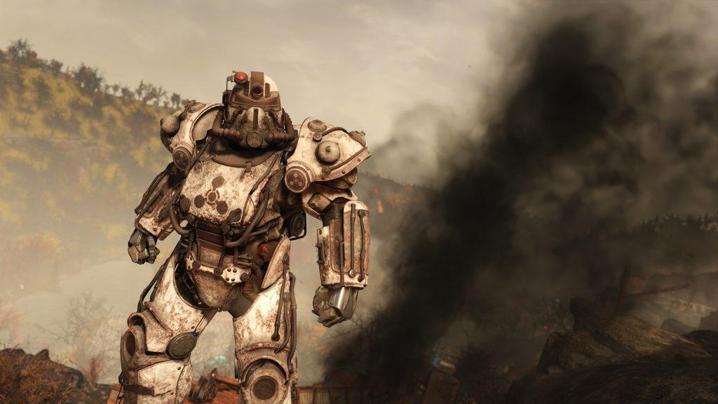 Fallout 76 Apokalyptischer Reiter Skin für die Powerrüstung Tod