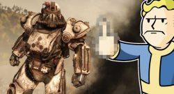 Fallout 76 Apokalyptischer Reiter Skin für die Powerrüstung Tod Titel Mittelfinger