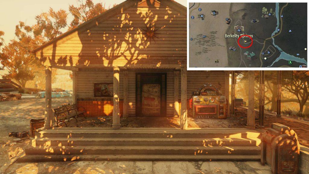 Fallout 76 Berkeley Springs Station mit legendärem Händler