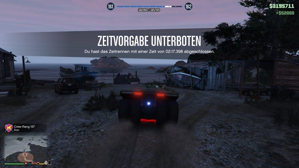 GTA 5 Online Zeitrennen Küste zu Küste Gewonnen