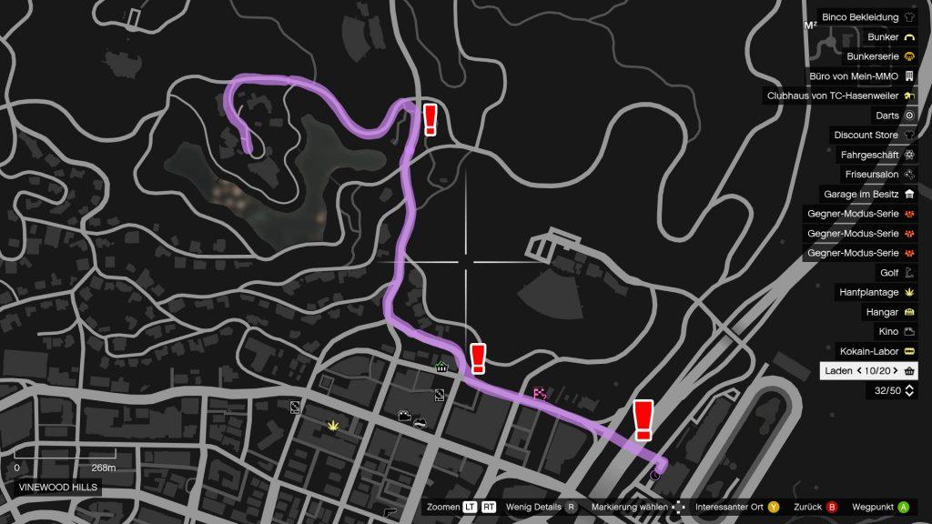 GTA Online Kasino Rennen Streckenverlauf