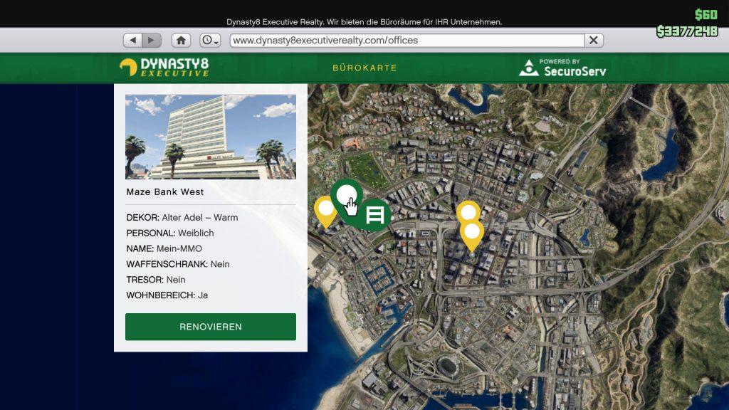 GTA Online Dynasty8 Maze Bank West