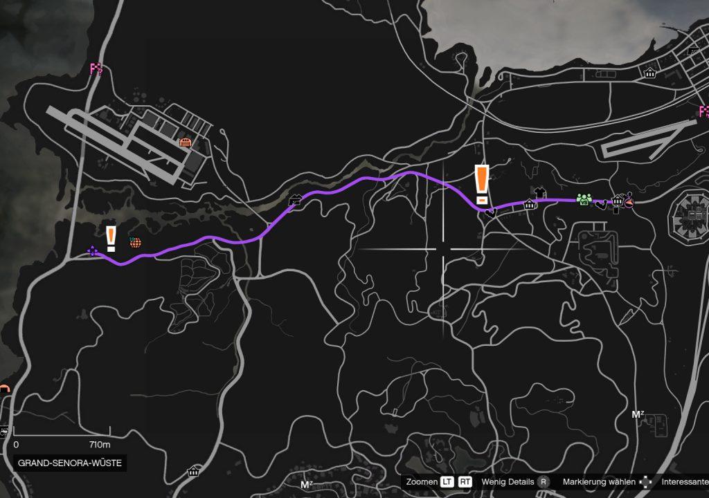 GTA Online Route 68 Streckenverlauf
