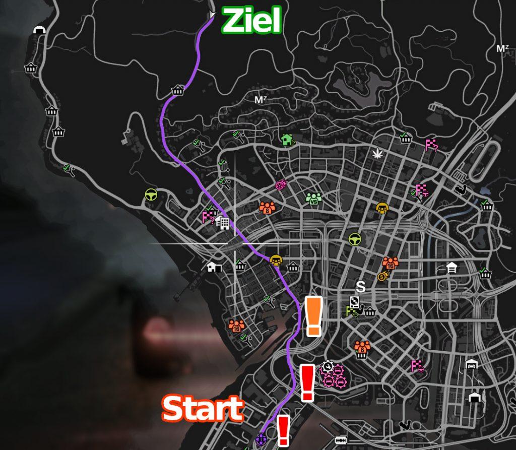 GTA Online Streckenverlauf LS