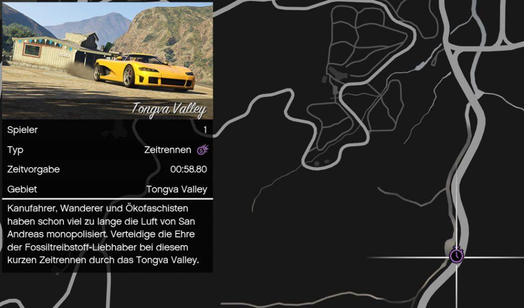 GTA Online Zeitrennen auf Map