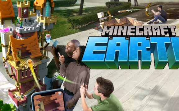 Minecraft Earth happy people title 1140×445