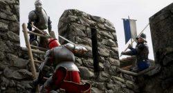 Mordhau Belagerung Ritter steigt eine Leiter hinauf titel