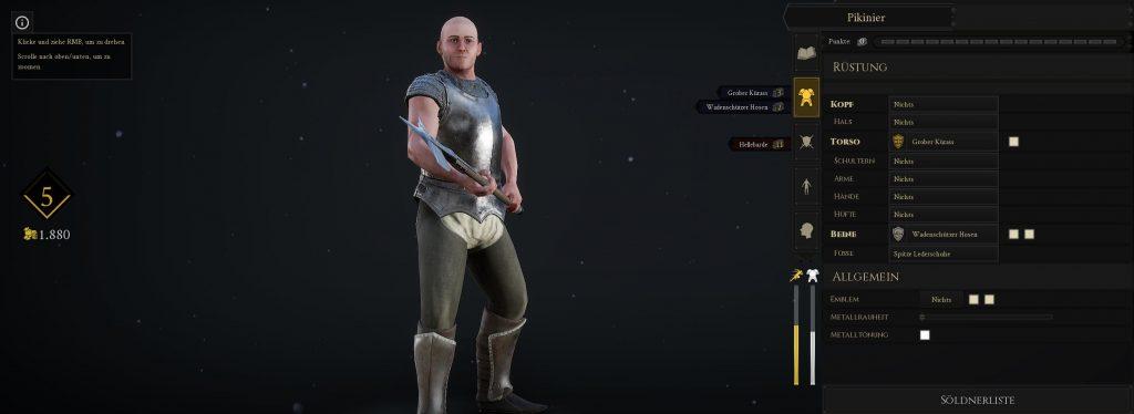 Mordhau Charakteranpassung Level und Gold