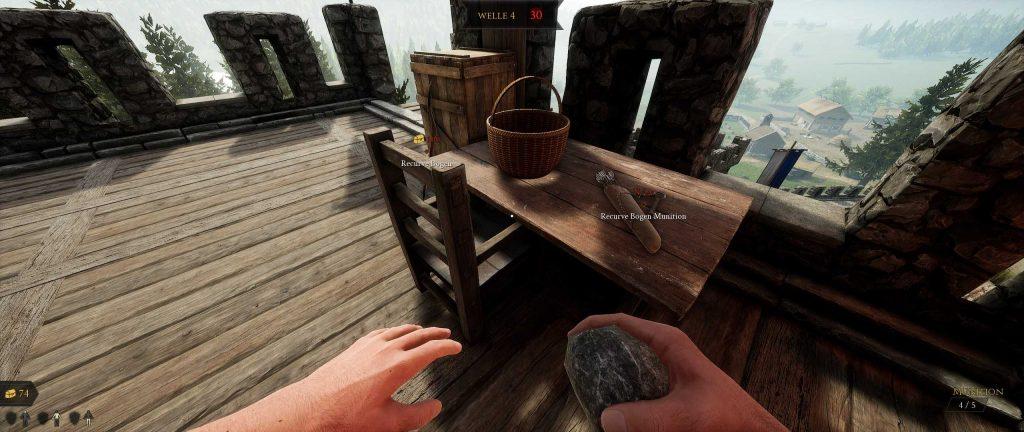 Mordhau Gameplay Screenshot Koop Horde Modus Gegenstände zu kaufen