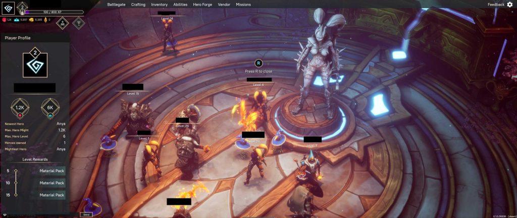 Pagan Online Screenshot Spieler im Social Hub 2