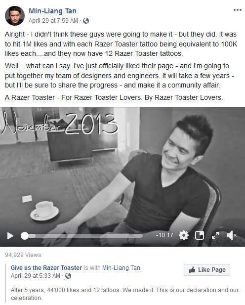 Razer Toaster bestätigt vom RAzer CEO