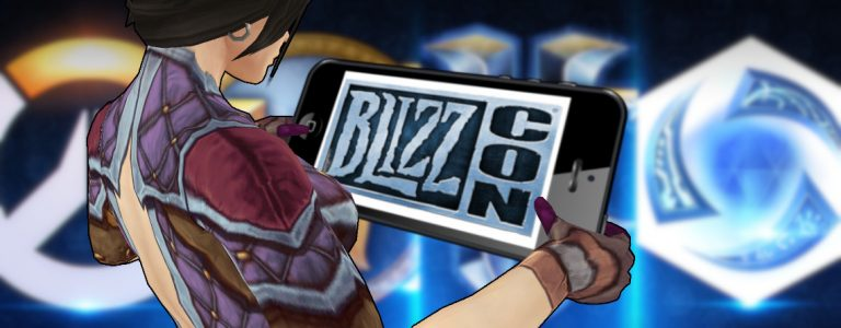 Smartphone Blizzard Mage Female BlizzCon title 1140x445