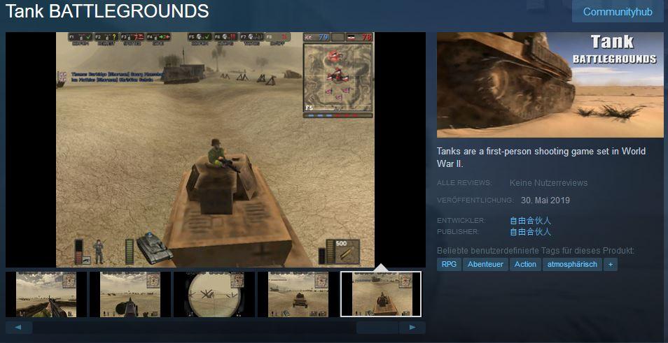 TBG Steam Seite