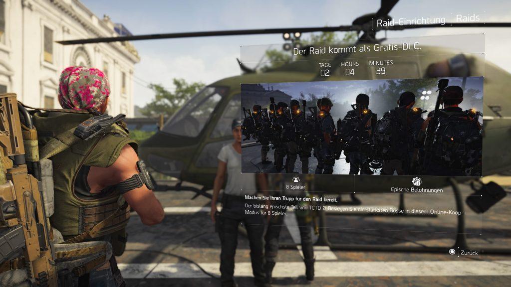 division 2 raid timer