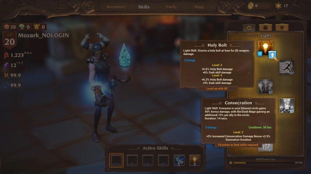 Torchlight Frontiers Skillscreen