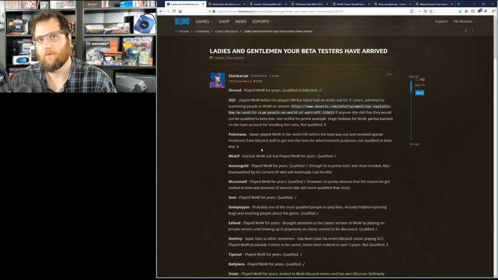 WoW Classic Thread im Forum Spieler ärgert sich über Streamer