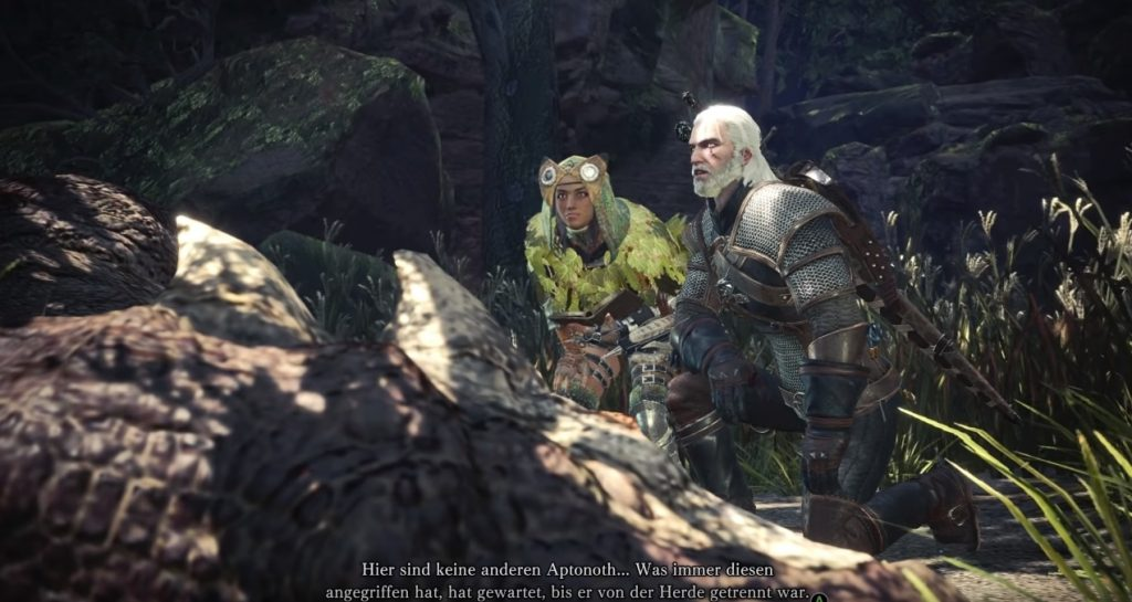 Monster hunter world geralt aptonoth