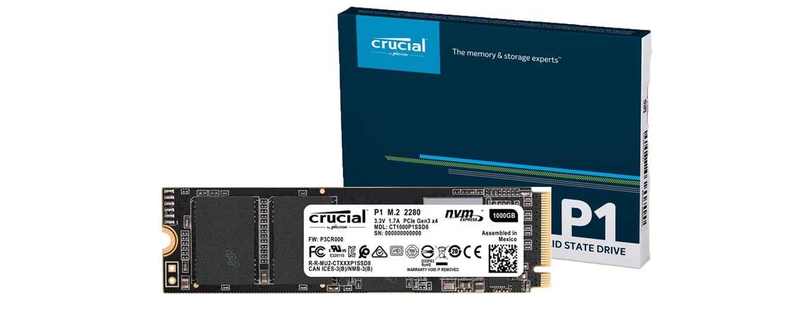 Crucial 1 TB M.2 SSD zum absoluten Bestpreis bei Amazon