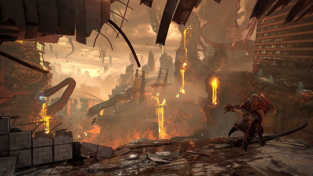 Doom Eternal Raum mit Aussicht