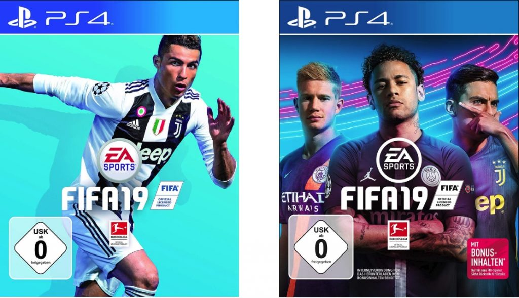 Altes und neues FIFA-19-Cover