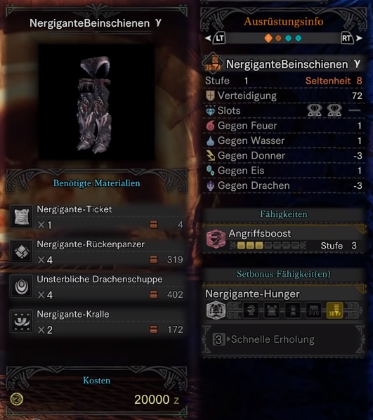 monster hunter world nergigante gamma hose