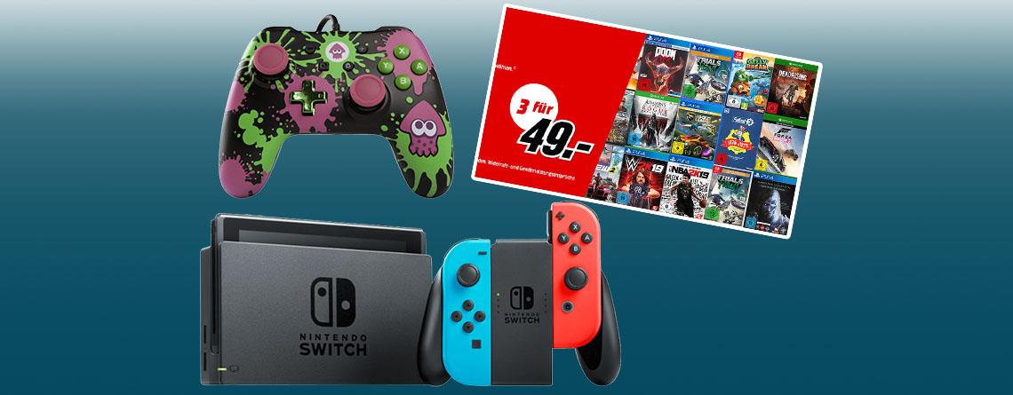3 für 49: MediaMarkt Prospekt Top-Angebot für PC, PS4, Nintendo Switch und Xbox One