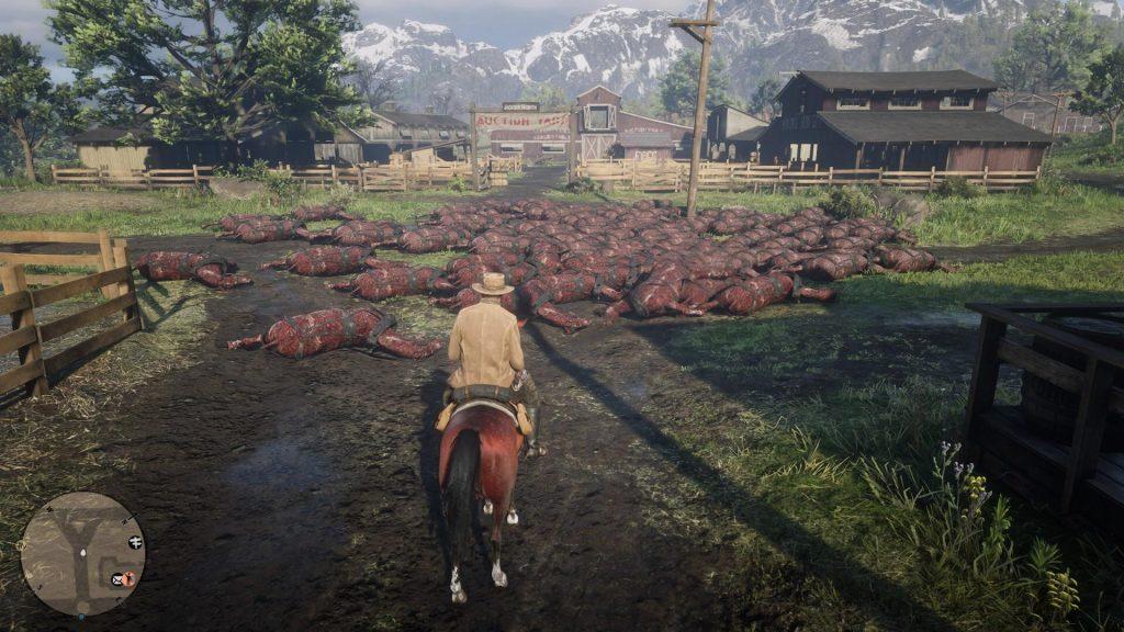 Red Dead Online tote Pferde
