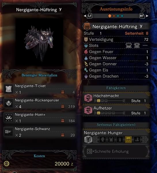 monster hunter world nergigante gamma gürtel