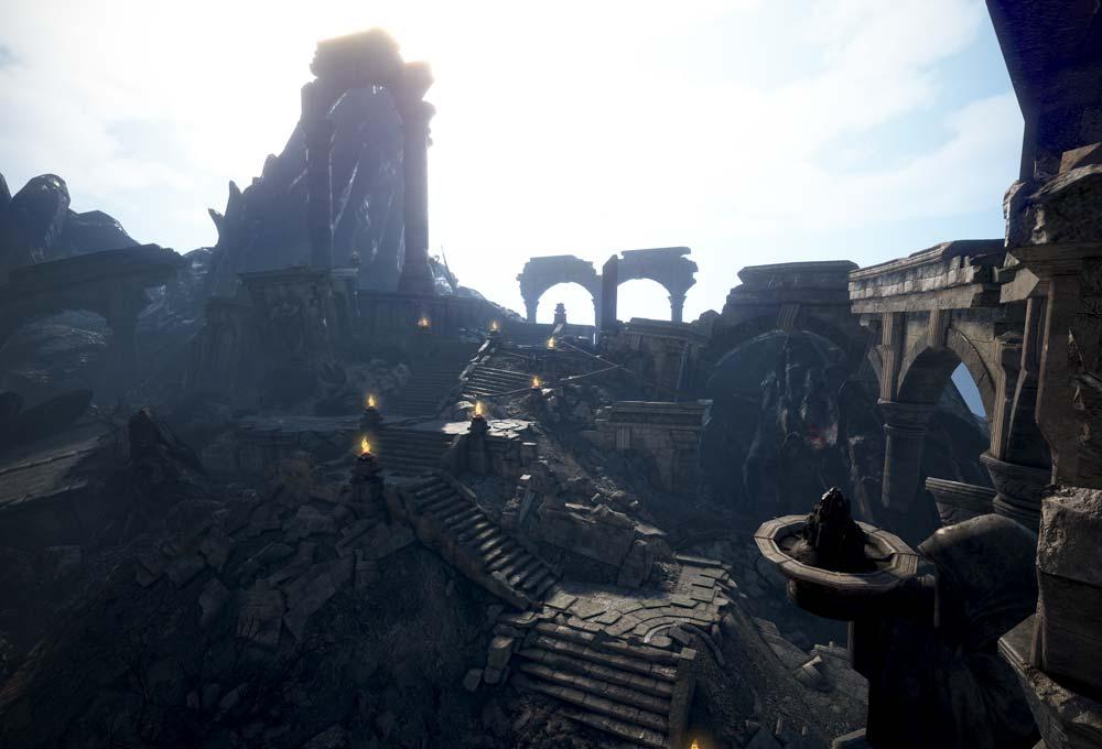Ruinen aus dem neuen Gebiet Sternenfall