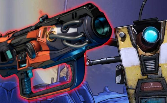 Borderlands Trevor Weapon Claptrap title