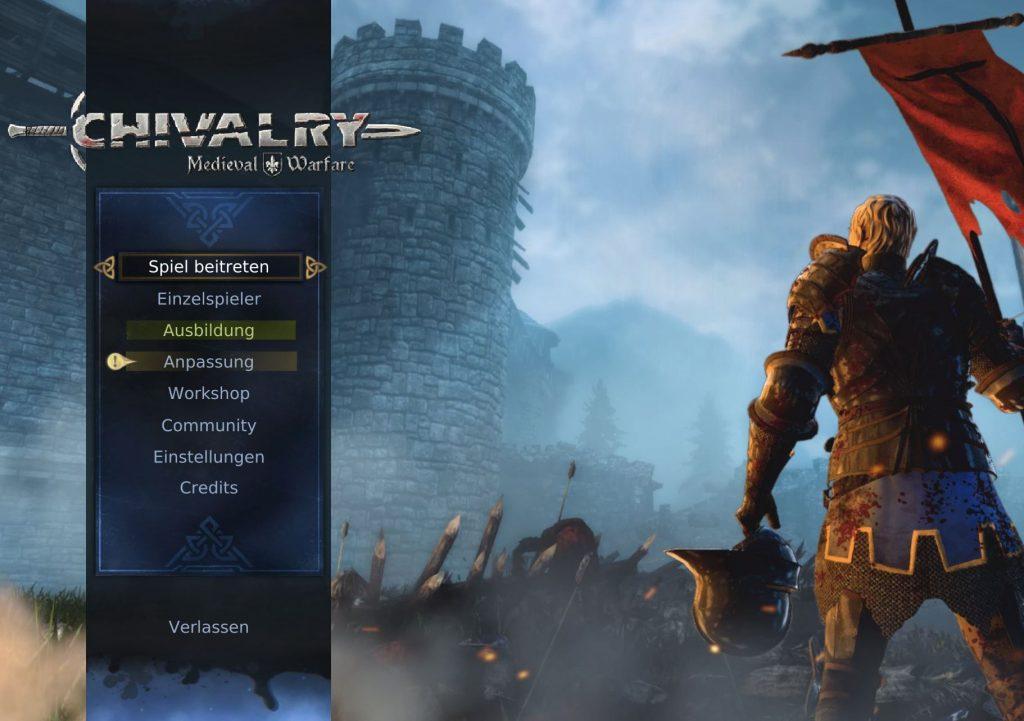 Chivalry Medieval Warfare Titel Screen