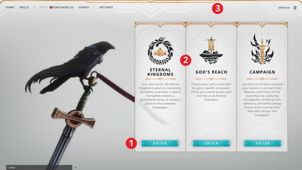 Crowfall neues UI Modi