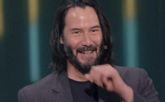 E3 Keanu Reeves Gesichtsausdruck