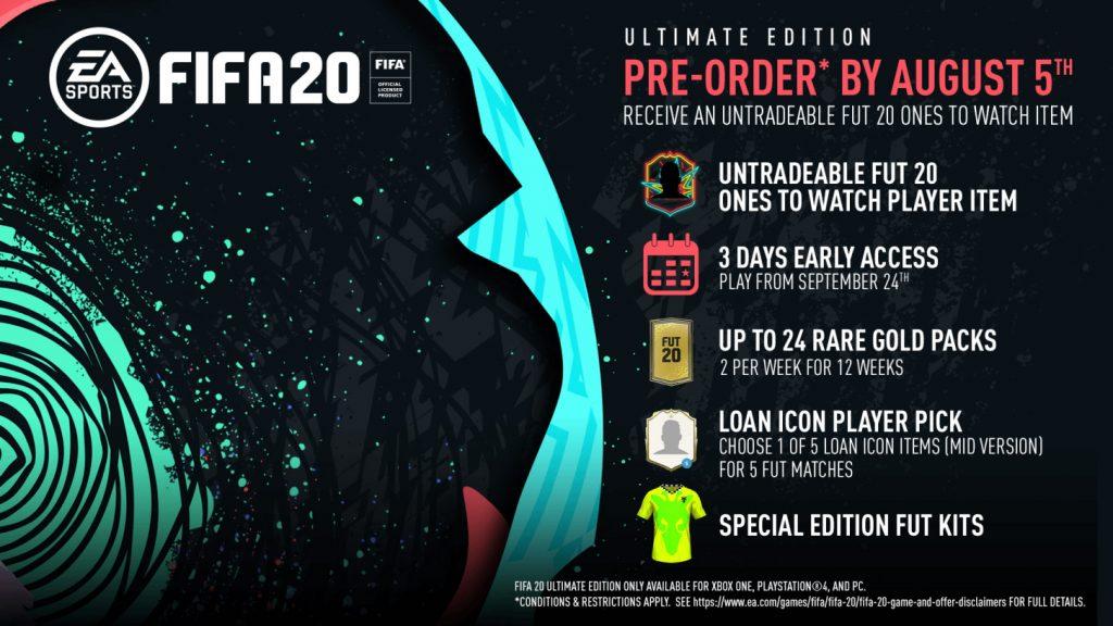 FIFA 20 Ultimate vorbestellen