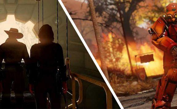 Fallout 76 Nuclear Winter Leute verlassen die Vault und Powerrüstung Titel